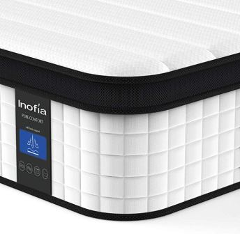 Inofia 12 Inch Hybrid Innerspring Double Mattress