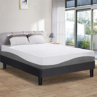 "PrimaSleep 10"" Wave Gel-Infused Memory Foam Mattress"