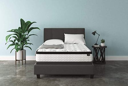 """Signature Design by Ashley 12"""" Chime Express Hybrid Innerspring Mattress"""