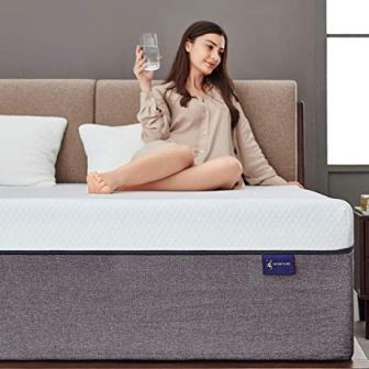 "Ssecretland 12"" Gel Memory Foam Mattress"