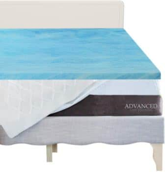 The Advanced Sleep Solutions Gel Memory Foam Mattress Topper Twin Extra Long
