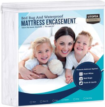 Utopia Bedding Zippered Mattress Encasement