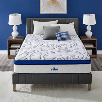 Vibe Quilted Gel Memory Foam and Innerspring Hybrid 12-Inch Mattress