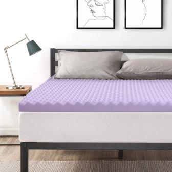 Best Price Mattress 3-Inch Eggcrate Memory Foam Bed Topper