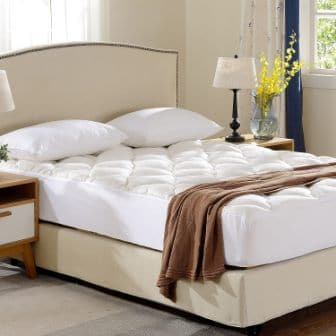 Cheer Collection Bamboo Mattress Topper Pad