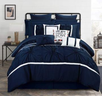 Chic Home Ashville Blue Comforter Set