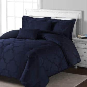 Comfy Bedding Lantern Jacquard Blue Comforter Set