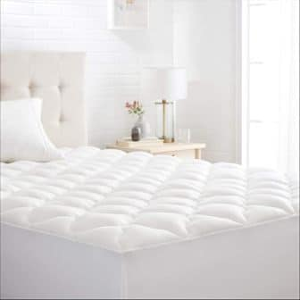 Conscious Series Cool-Touch Rayon Bamboo Mattress Topper Pad from AmazonBasics