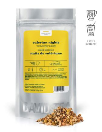 DAVIDsTEA Valerian Nights Loose Leaf Herbal Tea