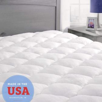 ExceptionalSheets Bamboo Mattress Pad with Fitted Skirt