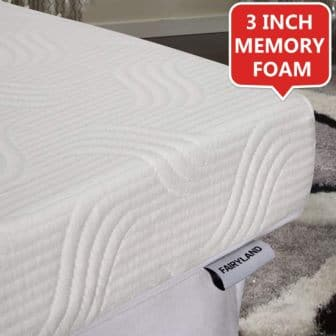FAIRYLAND 3-Inch Memory Foam Mattress Topper