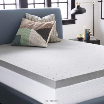 LUCID 3 Inch Bamboo Charcoal / Memory Foam Mattress