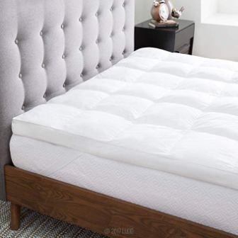 LUCID Pillow Top Down Alternative Mattress Topper