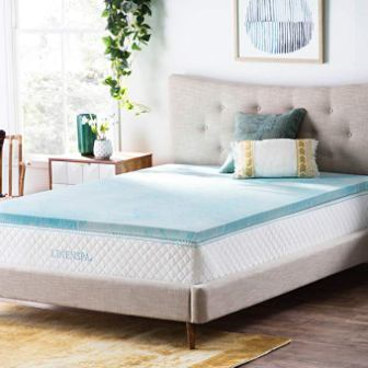 "LinenSpa 2"" Gel Memory Foam Cal King Mattress Topper"