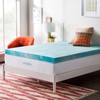 Linenspa Gel Swirl Memory Foam California King Mattress Topper
