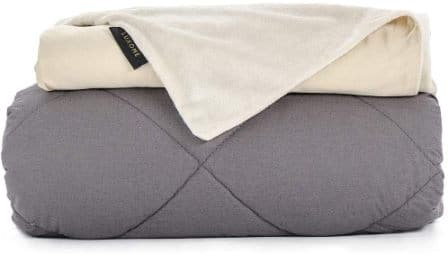 Luxome Luxury Weighted Blanket for Adults with Removable Bamboo/Minky Cover