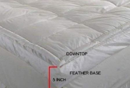 Luxurious Down-top Baffle Box feather bed, Queen size