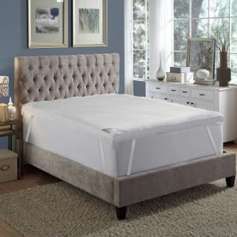 MGM GRAND Hotel Platinum Collection Feather Bed/Mattress Topper, Baffle Box, King