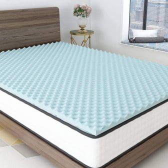 Milemont 1.5-Inch Eggcrate Memory Foam Bed Topper