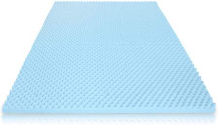 Milliard 2-Inch Eggcrate Gel Memory Foam Mattress Topper