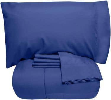 Sweet Home Collection 7-Piece Blue Comforter Set