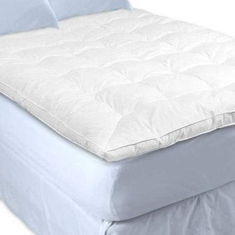 Sweet Jojo Designs White Goose Feather and Down Mattress Topper