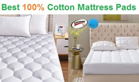 Top 15 Best 100% Cotton Mattress Pads in 2020
