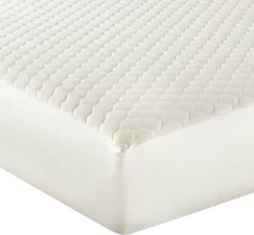 Whisper Organics 100% Organic Cotton Quilted Fitted Mattress Pad Cover