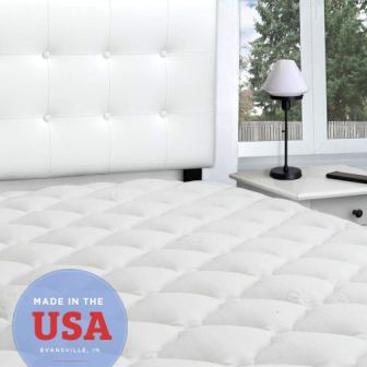 eLuxurySupply Rayon from Bamboo Cal King Mattress Topper