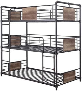 Brantley hand-brushed triple bunk bed from ACME Furniture