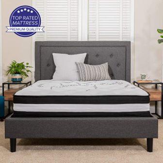 Flash Furniture Capri 12-Inch Foam and Pocket Spring Mattress in a Box