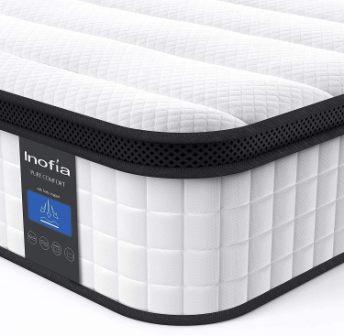 Inofia 10-Inch Hybrid Innerspring Mattress in a Box