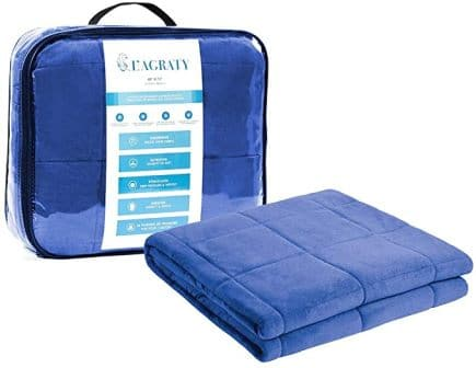 L'AGRATY Luxury Minky Weighted Blanket