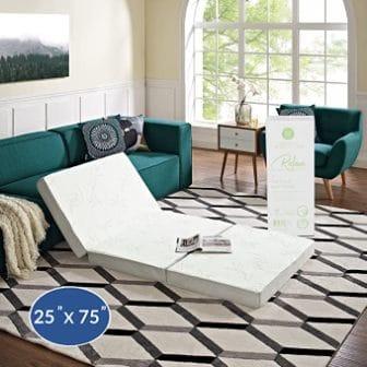 Modway 4-Inch Relax Tri-Fold Mattress Topper