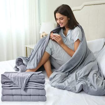 Sleep Mantra Twin Size Weighted Throw-Blanket