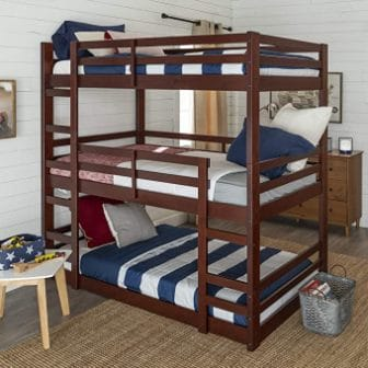 Triple bunk bed Espresso from WE Furniture