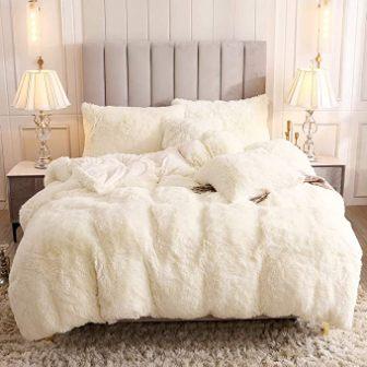 Uhamho Faux Fur Fluffy Duvet Cover