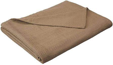 eLuxury Supply Metro Weave Blanket Cotton Thermal Blanket