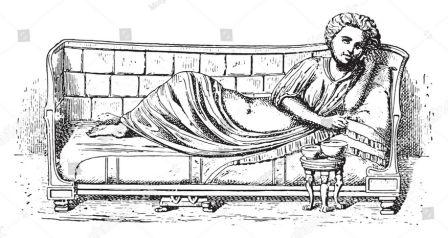A Typical Roman Bed for the Rich