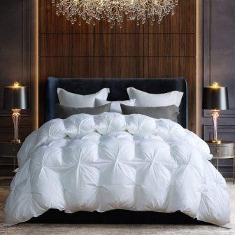 AIKOFUL Down Comforter King/Cali King Size, Solid White Duvet Insert