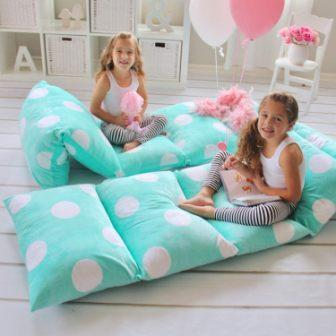 Butterfly Craze Girl's Floor Lounger Seats Cover and Pillow Cover