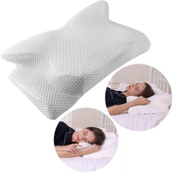Firmer memory foam cervical contour pillow by Coisum