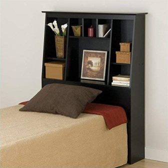 Prepac ESH-6656 Tall Slant-Back Bookcase Headboard