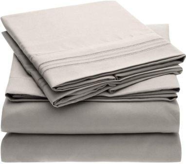 Solid Burgundy Top-Split-King: Adjustable King Bed Size Sheets