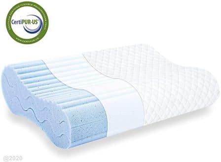 Standard-size cervical contour memory foam pillow by Milemont