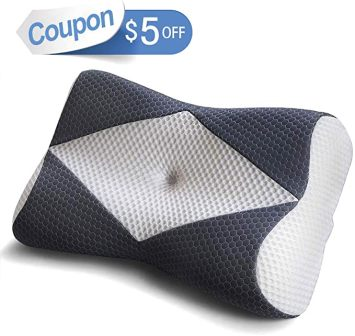 Standard size orthopedic cervical contour pillow by Mkicesky