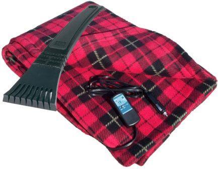Trillium Worldwide Fleece Travel Electric Blanket