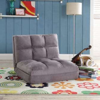 Inspired Home Co Loungie Micro-Suede Flip Chair