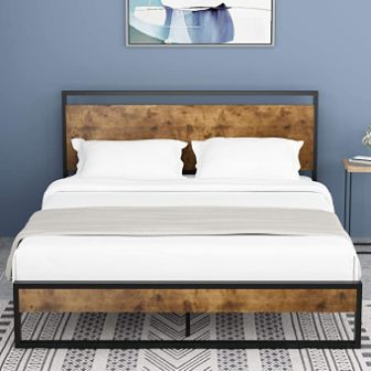 Amolife Queen Bed Frame with Headboard and Footboard