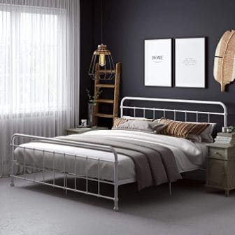 DHP BEAUMONT BED FRAME WITH HEADBOARD AND FOOTBOARD